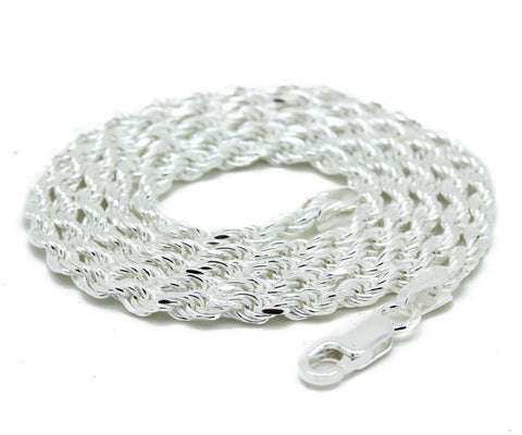 Sterling Silver 20 inch 4mm Rope Necklace