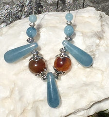 Aquamarine Drip Necklace