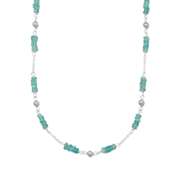 Appetizing Apatite  & Solid Silver Necklace