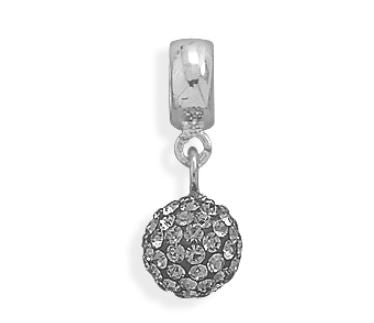 Grey Crystal Ball Charm