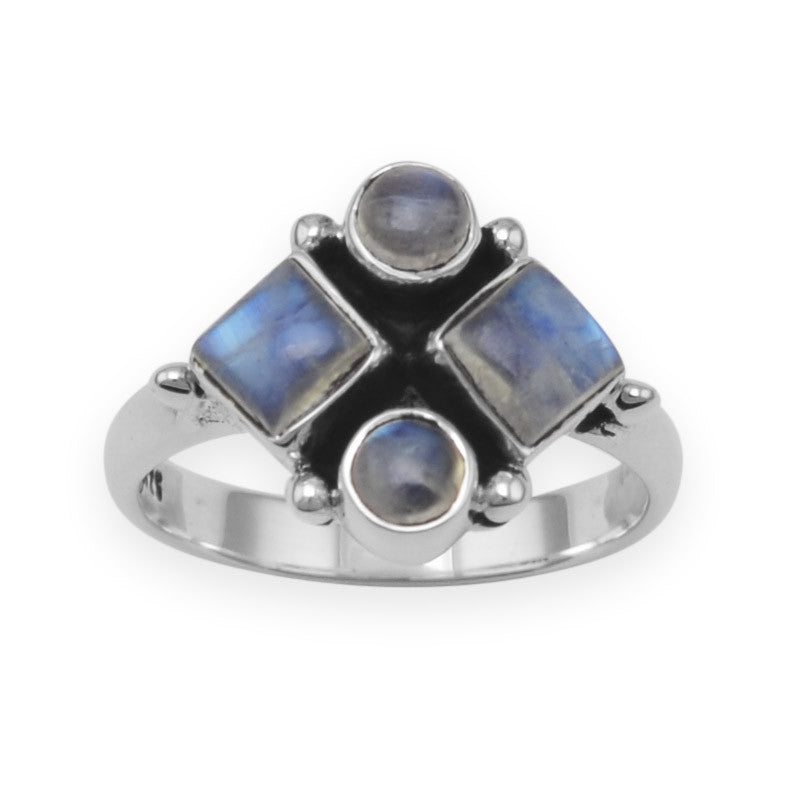 Oxidized Moonstone Ring Size 6
