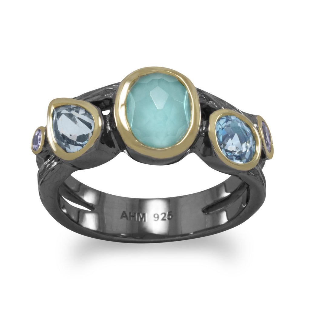 Sterling Silver Multi-Stone Ring