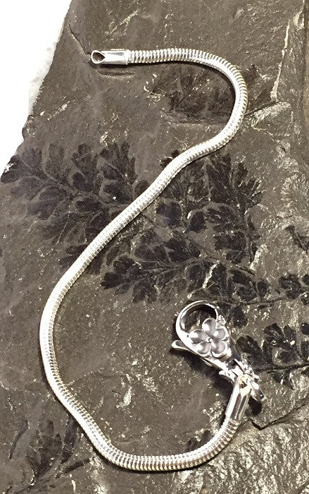 Solid Silver Snake Chain for European-Style Bracelets