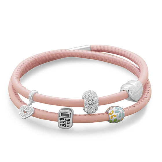Double Wrap Italian Leather Bracelet