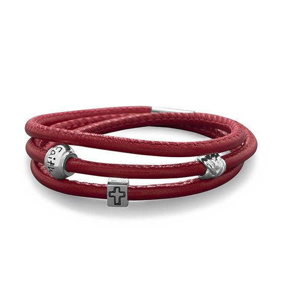 Triple Wrap Italian Leather Bracelet