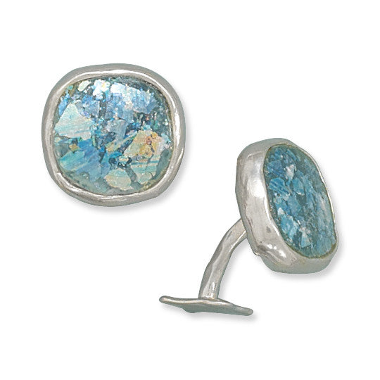 Mystical Roman Glass Cuff Links