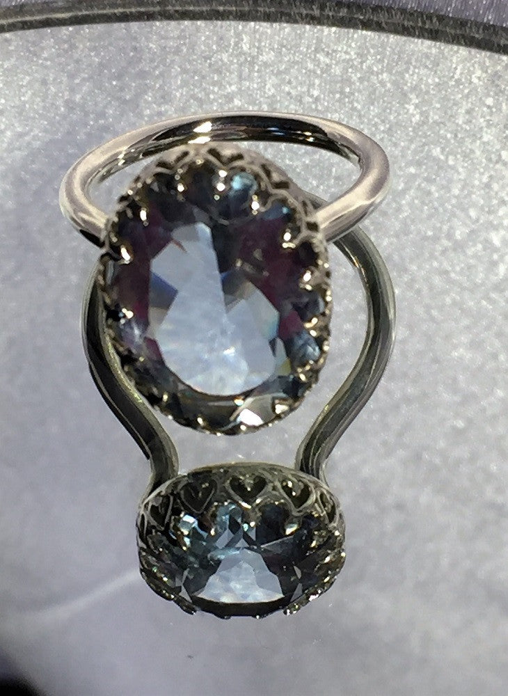 Color-Changing Alexandrite Crown Ring Size 6.5