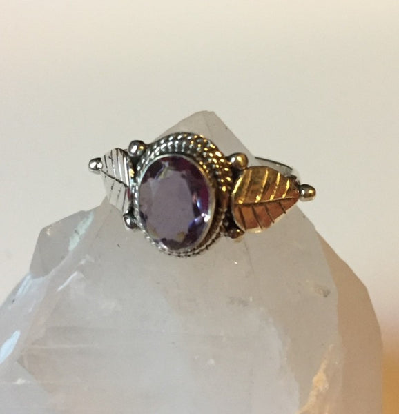 Color Changing Alexandrite Native Sterling Silver Ring Size 6