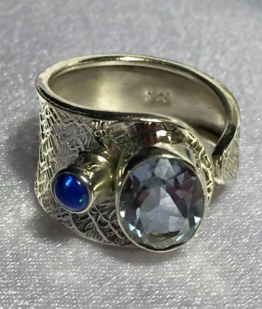 Ancient Alexandrite & Fire Opal Ring Size 9