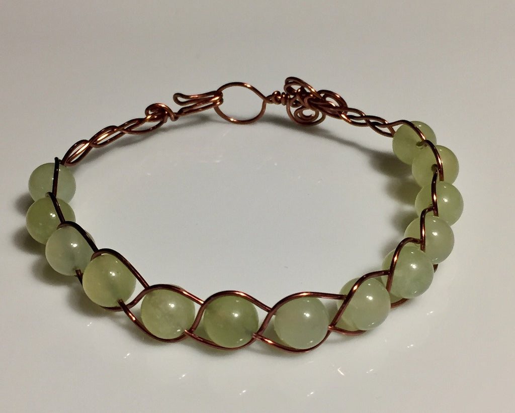 Majestic Jade Copper Bracelet
