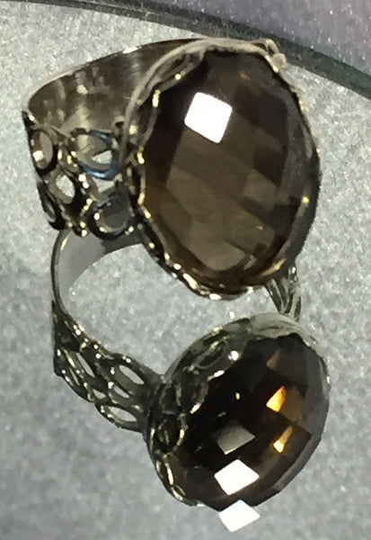 Camelot Smoky Quartz Ring - Size 7
