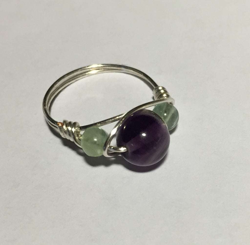 Fluorite Wire-Wrap Ring