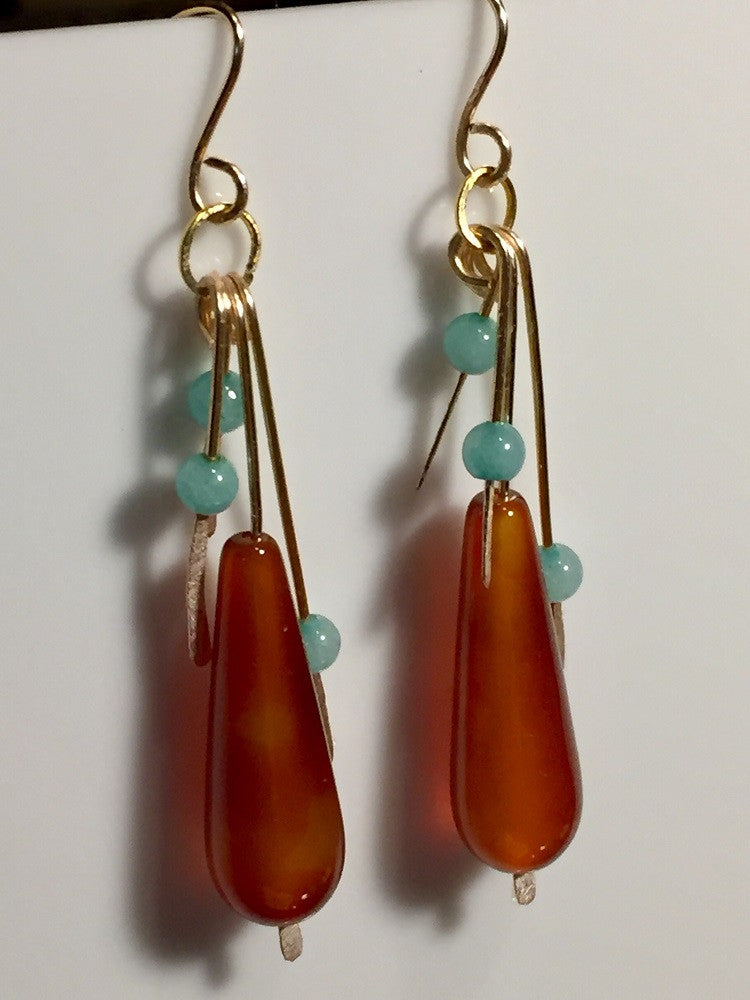 Amazonian Flame Drip Earrings