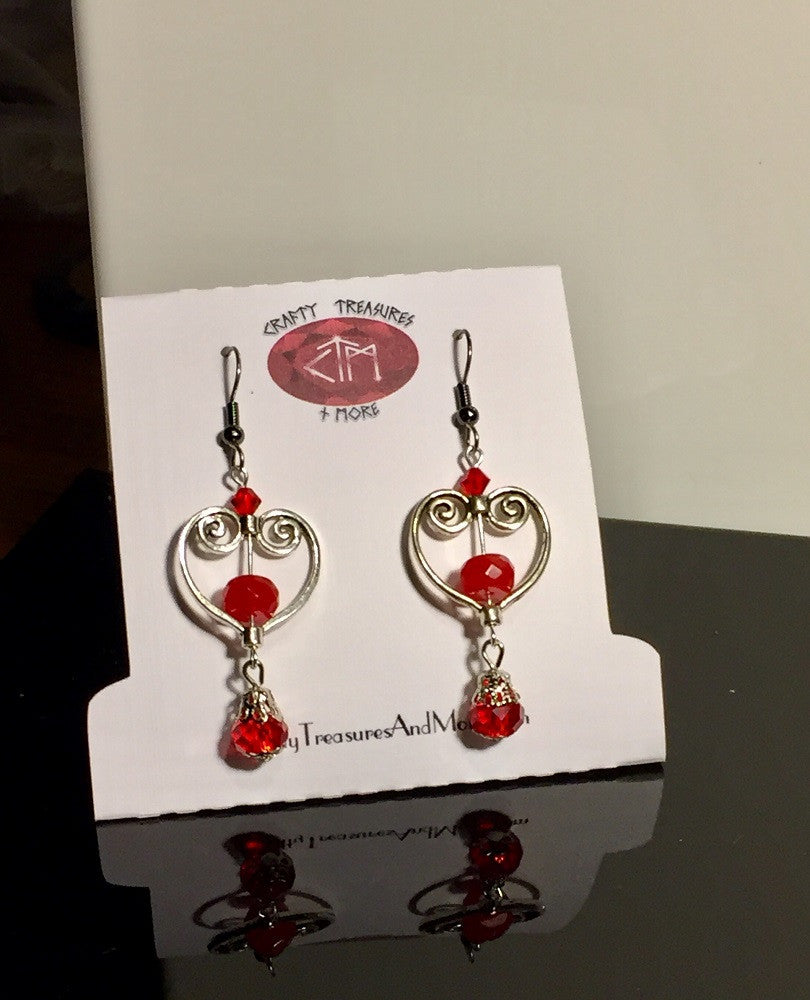 Valentine Heart Ruby Earrings