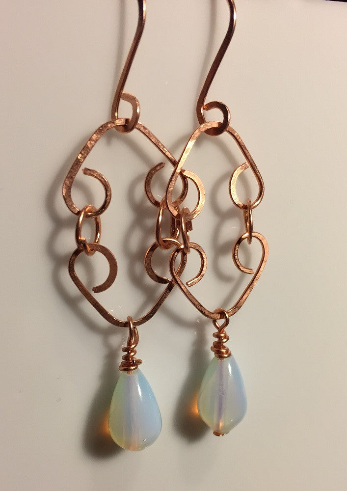 Double-Hearted Opalite Earrings
