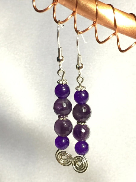 Russian Amethyst Stack Earrings