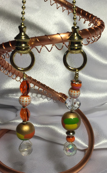 Fun Orange Lamp Pull Set