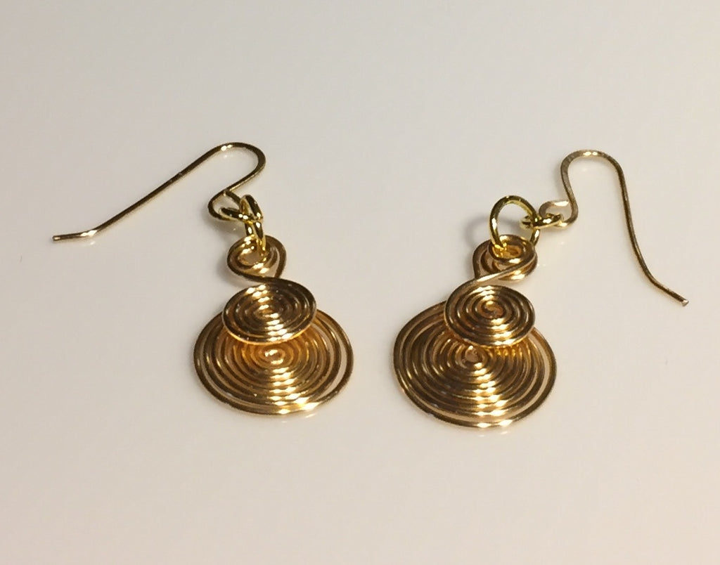 Gold Egyptian Spiral Earrings
