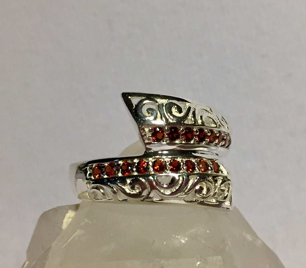 Garnet Overlap Ring - January