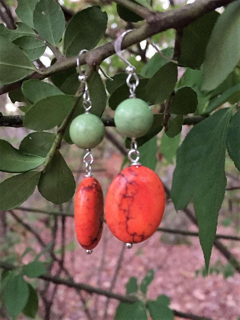 Fall Shades Magnesite Drop Earrings