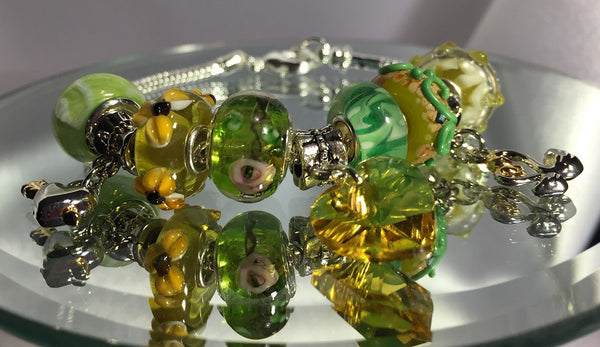 Green Envy European Charm Bracelet