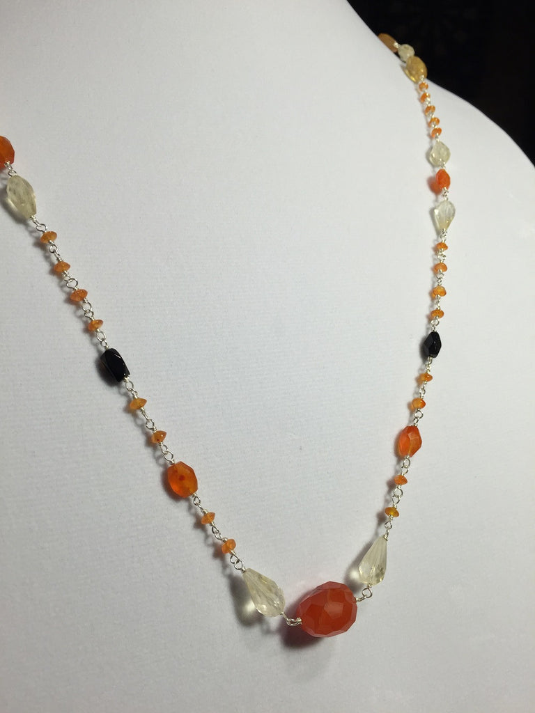 Long & Lovely Multistone Beaded Necklace