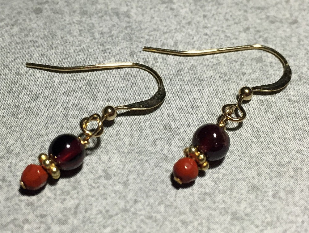 Jade & Garnet Earrings