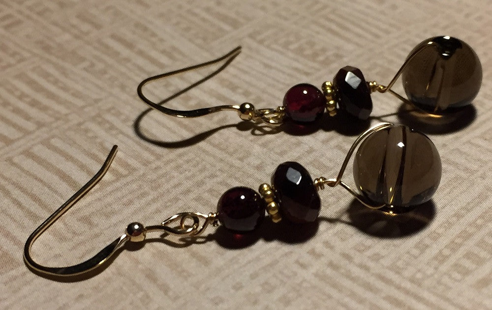 Smoky Allure Earrings