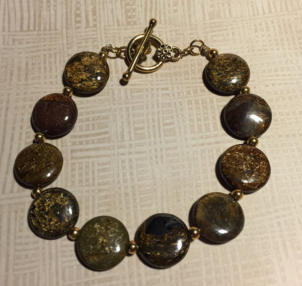 Beautiful Bronzite Bracelet