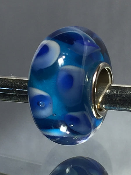 Blue Murano Lampwork Glass Charm Bead