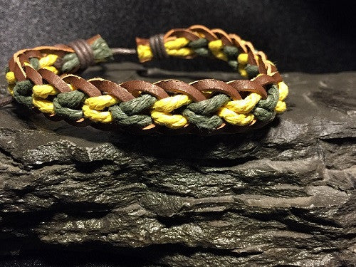 Handmade Leather Braided Cuff / Bracelets