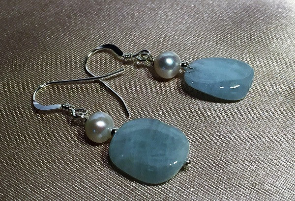 Princess Pearl & Chalcedony Earrings