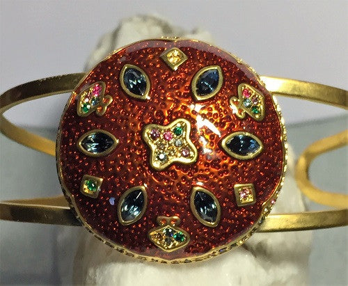 Gold Plated Crystal Cloisonne' Styled Jewelry