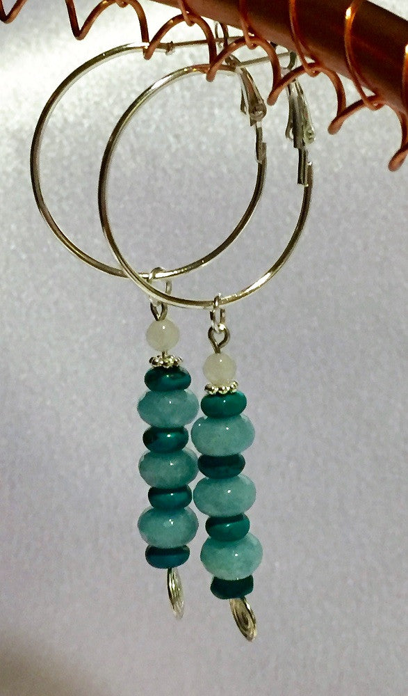 Aqua Shades Stack Earrings