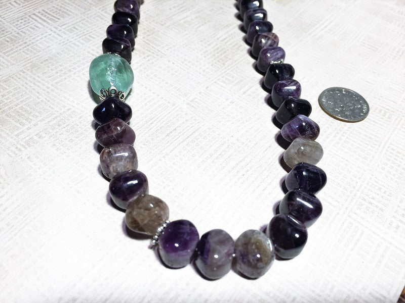 Queenly Amethyst Lantern Necklace