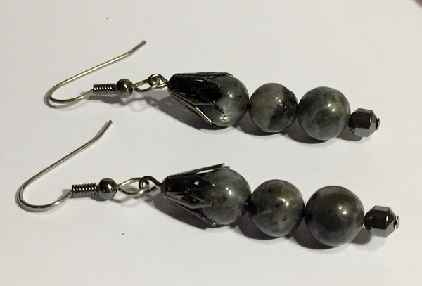 Lovely Larvikite Stack Earrings