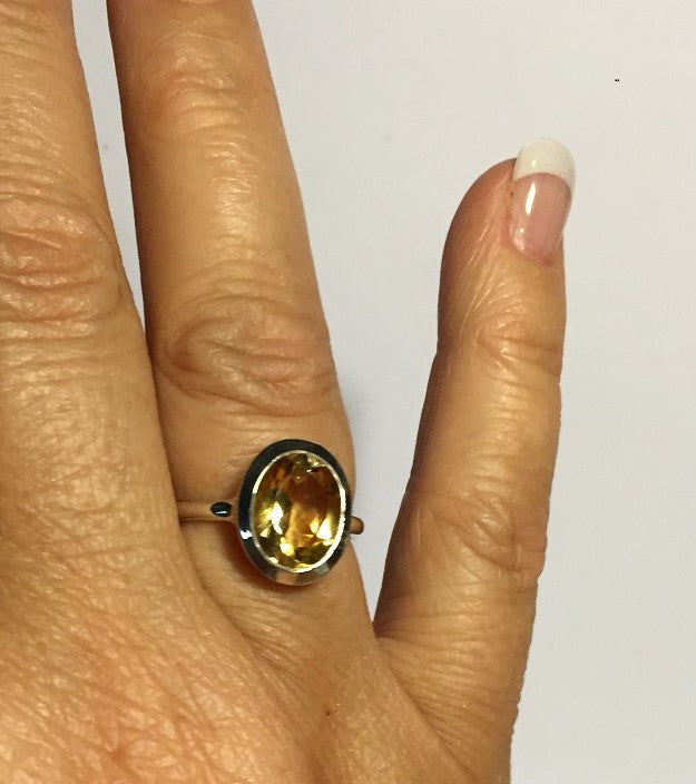Lemon Citrine Ring Size 7