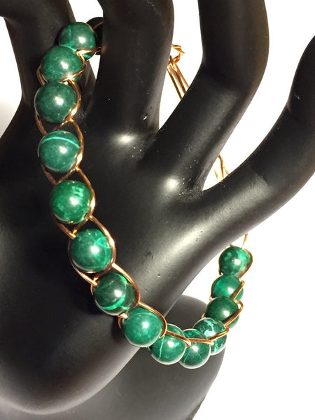 Majestic Malachite Copper Bracelet