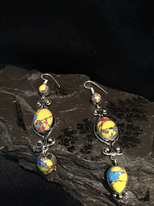 Mosaic Jasper Earrings
