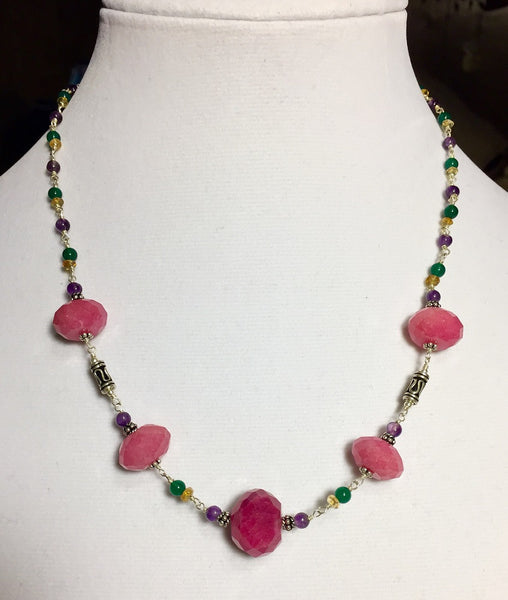 Ruby Multi-Stone Necklace