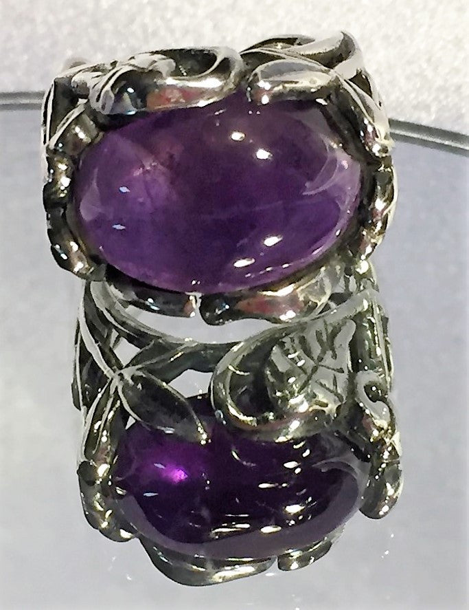 Woodland Fantasy Amethyst Ring