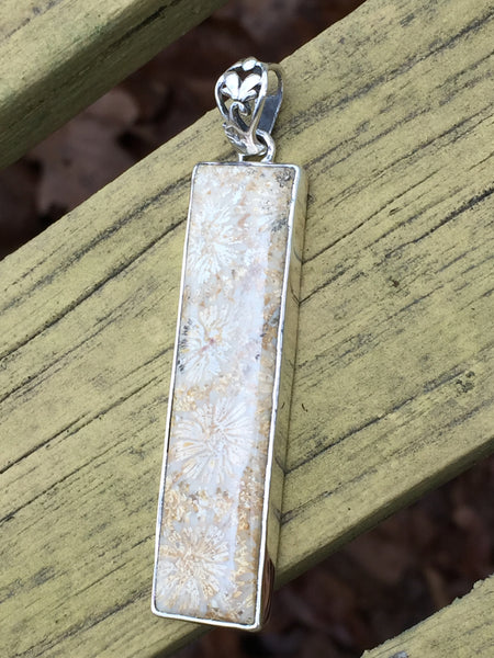 Indonesian Fossil Coral Solid Silver Pendant