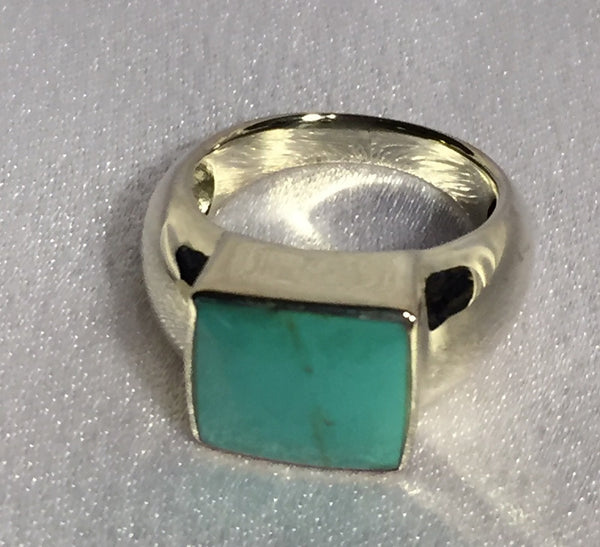 Simply Square Turquoise Ring-Size 6