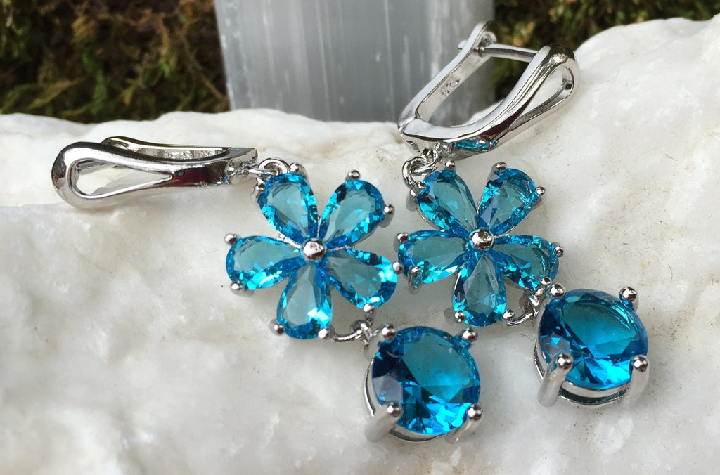 Swiss Blue Topaz Earrings
