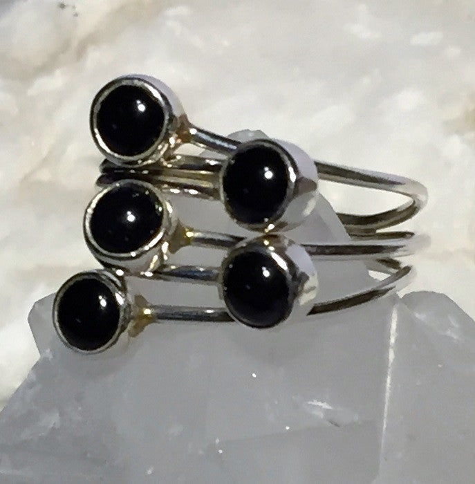 Multi-Wrap Black Onyx Ring Size 8.5