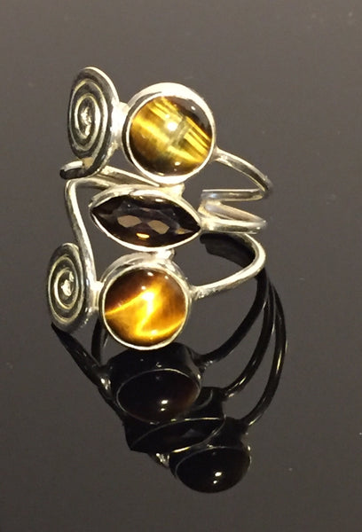 Smokey Tiger Egyptian Ring - Size Adjustable