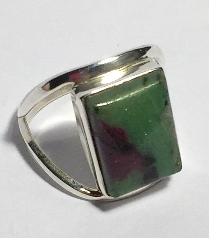 Caged Ruby Zoisite Ring Size 8.5