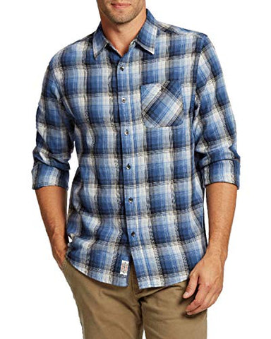 Flag & Anthem - Rowe, Lightweight Plaid Single Pocket Long Sleeve Men's Shirt