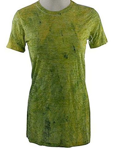 Elvis Laskin - Geometric Lime, Short Sleeve, Round Neck, Abstract Design Top