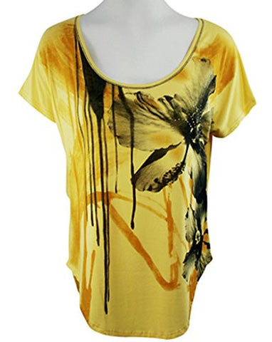 Vanilla Sugar - Two Flowers, Cap Sleeve, Studded Top with Floral Designs